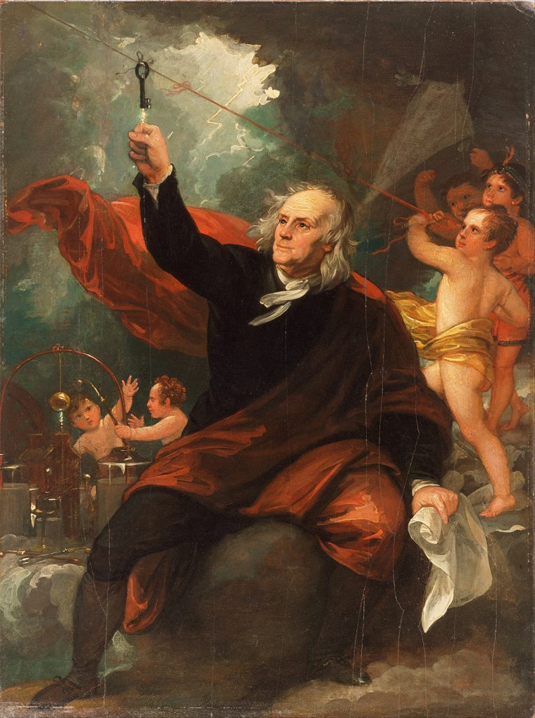 Benjamin West, Benjamin Franklin Drawing Electricity from the Sky