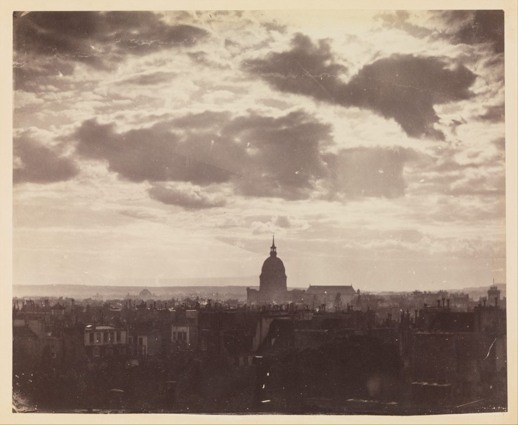 Paris in the early photographs: Charles Marville, Cloud Study over Paris, 1850s, the Metropolitan Museum, US.