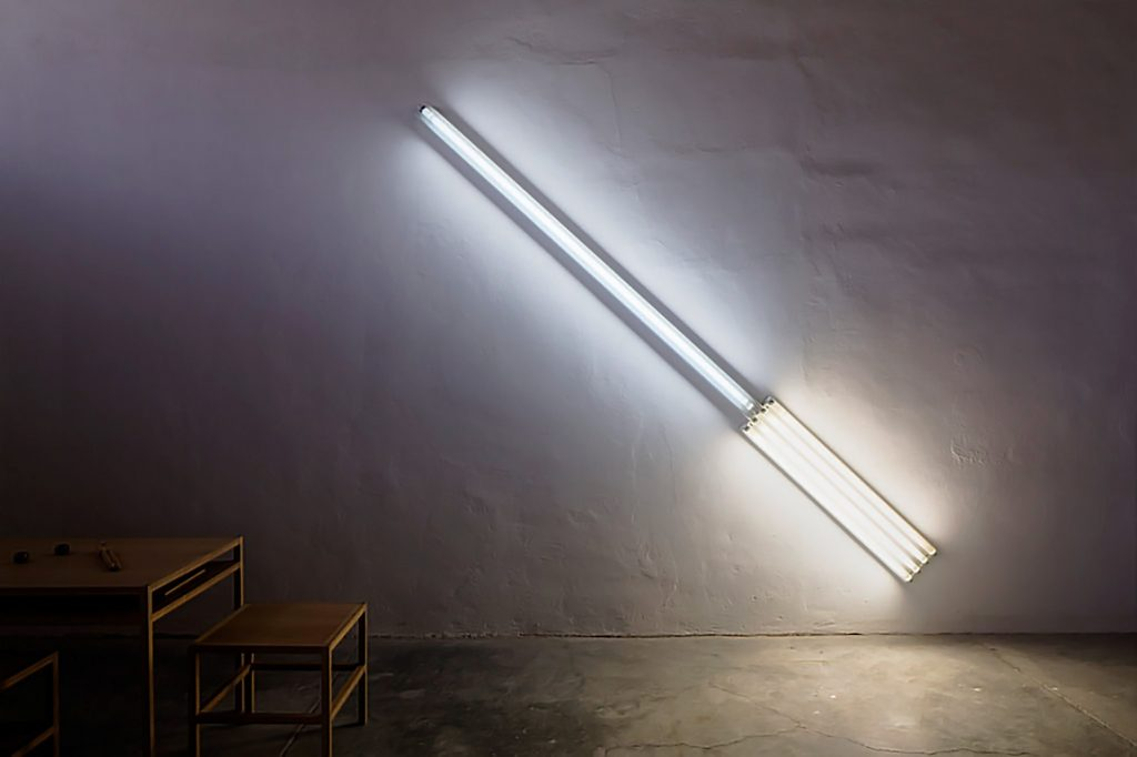 Dan Flavin, The alternate diagonals of March 2, 1964 (to Don Judd), 1964, private collection