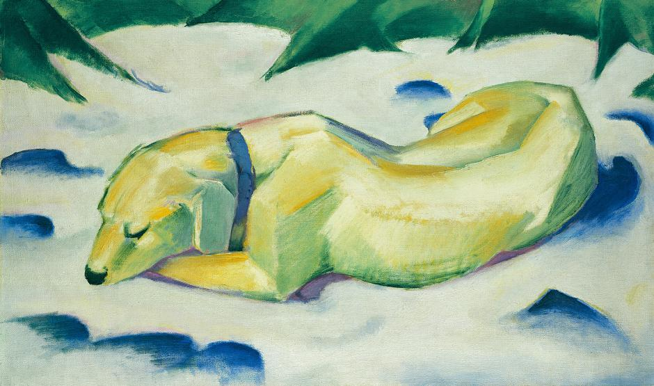 Franz Marc, Dog lying in the snow, ca. 1911, Städel Museum