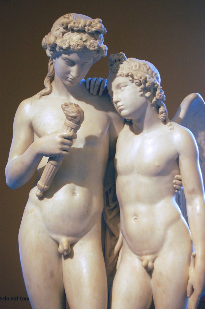 George Rennie, Cupid Rekindling the Torch of Hymen, c.1801, Victoria and Albert Museum, London, England, UK. Wikimedia Commons.