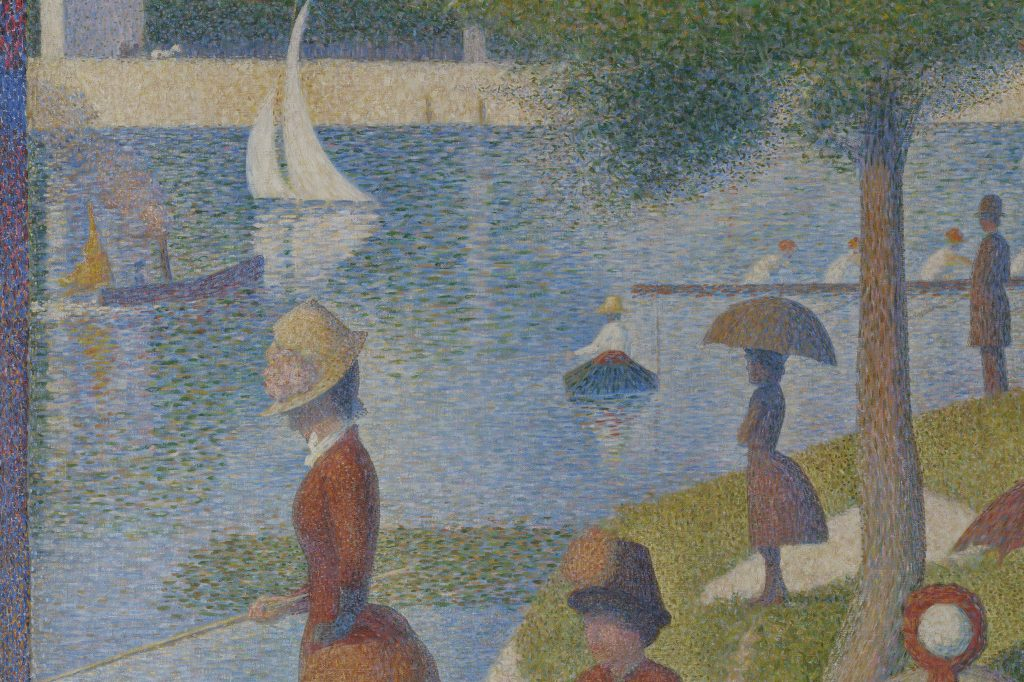 Georges Seurat, A Sunday Afternoon on The Island of La Grande Jatte, 1884, Detail, Art Institute of Chicago.