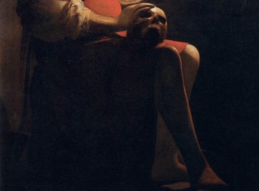 Georges de la Tour, Magdalene with the Smoking Flame, 1640, detail, Louvre Museum, Paris.