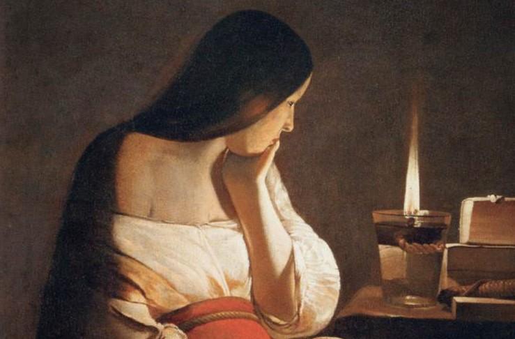 Georges de la Tour, Magdalene with the Smoking Flame, 1640, Louvre, Paris, France. Detail.