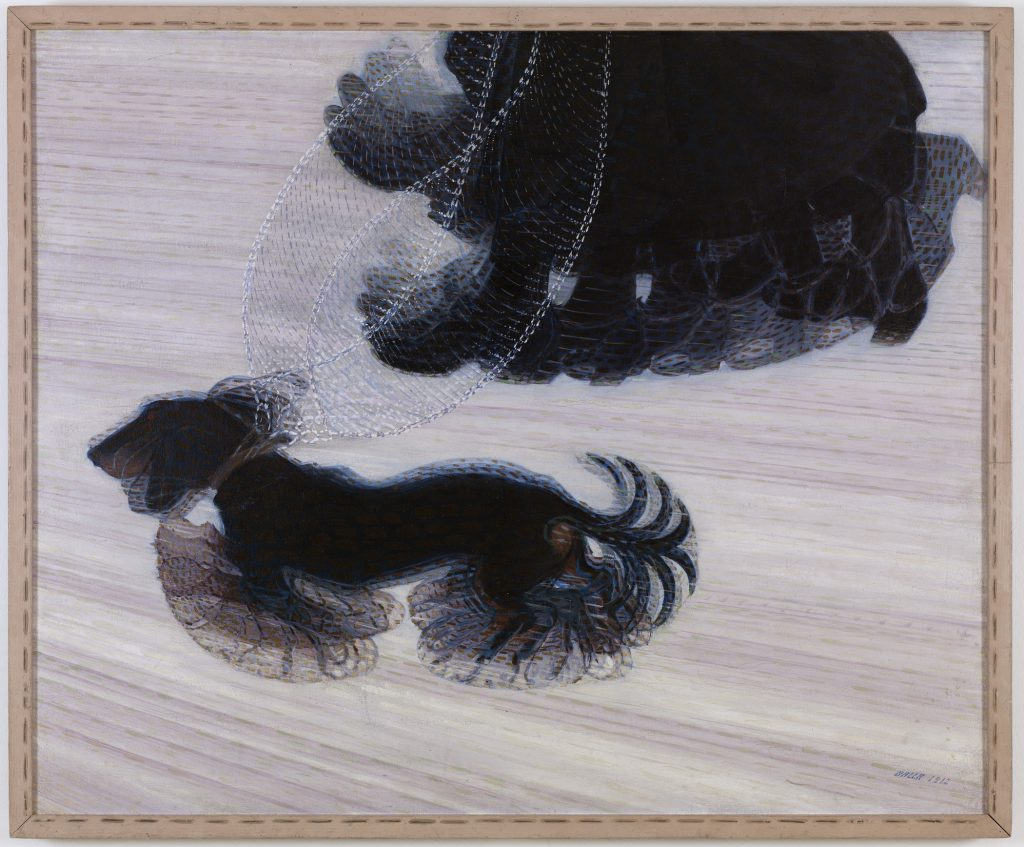 Giacomo Balla, Dynamism of a Dog on a Leash, 1912. Albright-Knox Art Gallery - dogs in modern art