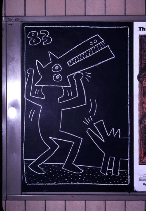Keith Harring, Untitled, 1983, ©Keith Haring Foundation
