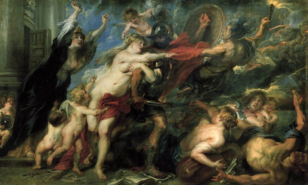 Mythological and religious paintings: Peter Paul Rubens, The Consequences of War, 1637-38, Palazzo Pitti, Florence