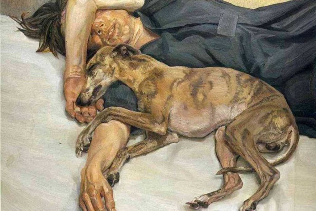 Lucian Freud, Double Portrait, 1985-86 - dogs in modern art