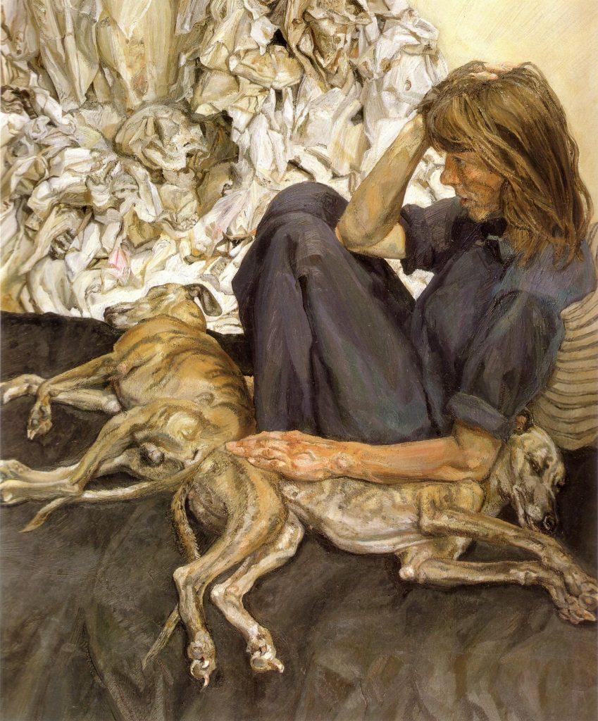 Lucian Freud, Triple Portrait, 1986-87