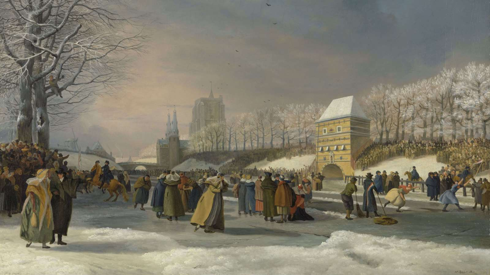 Nicolaas Baur, Women's Skating Competition on the Stadsgracht in Leeuwarden, 21 January 1809 cover