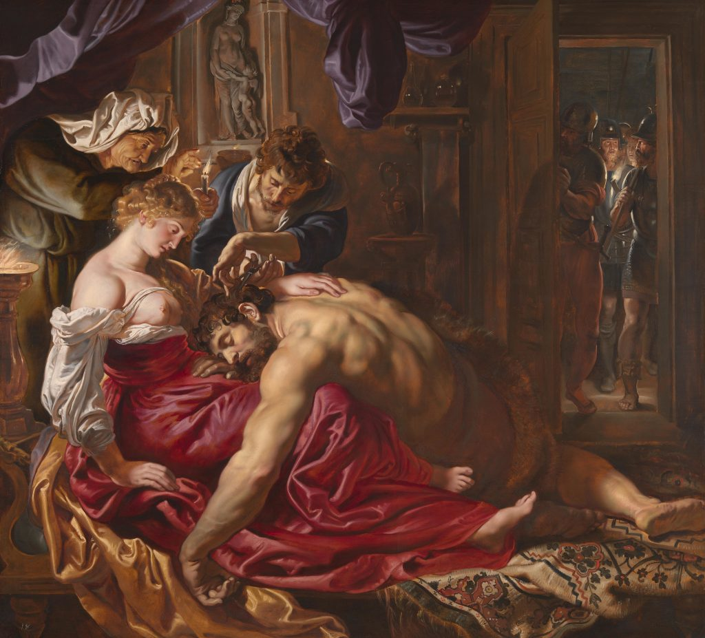 Peter Paul Rubens, Sampson and Delilah, 1609-10, National Gallery, London, UK. Mythological and religious paintings