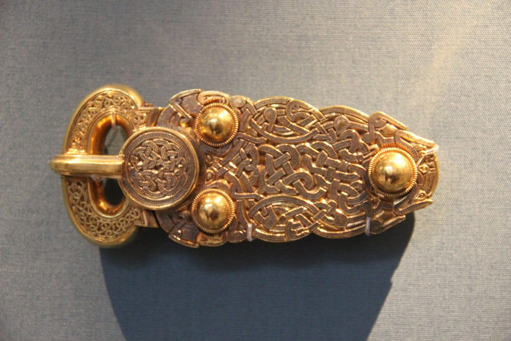 Gold buckle from the Sutton Hoo ship burial