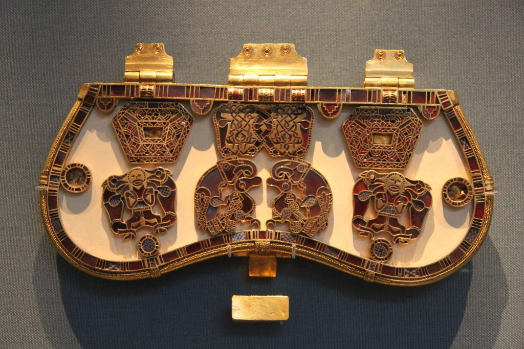Purse lid from the Sutton Hoo ship burial,