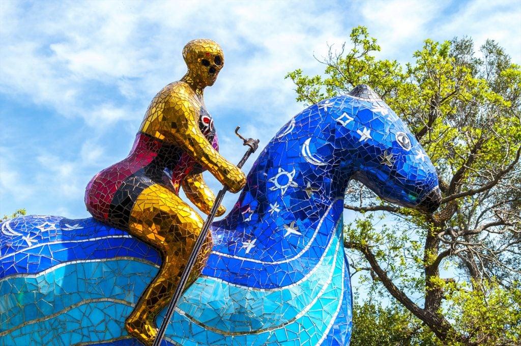 Niki de Saint Phalle, The Death (La morte), Giardino dei Tarocchi, Garavicchio, Italy.