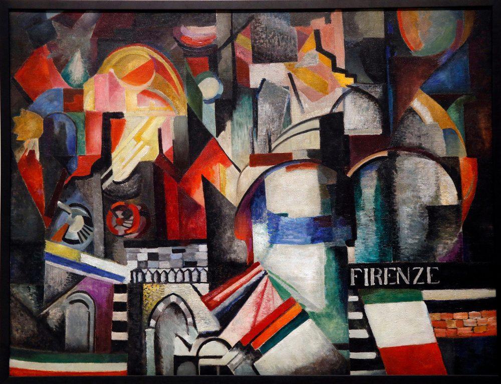Alexandra Exter, Firenze, 1914-5, oil on canvas, Aware Women Artists.