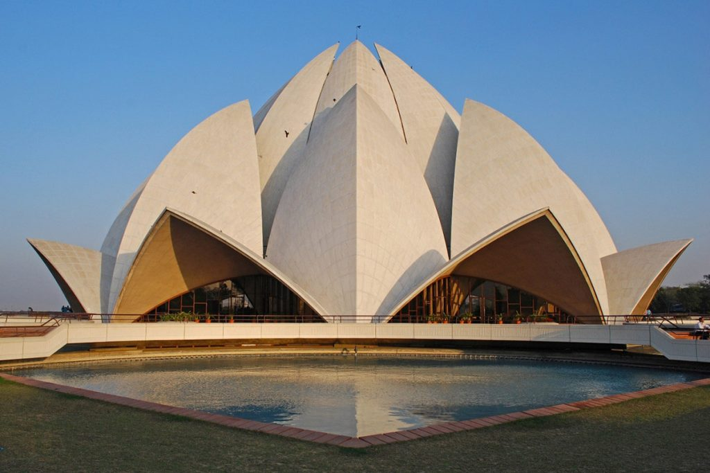 language of flowers, The Lotus Temple in New Delhi