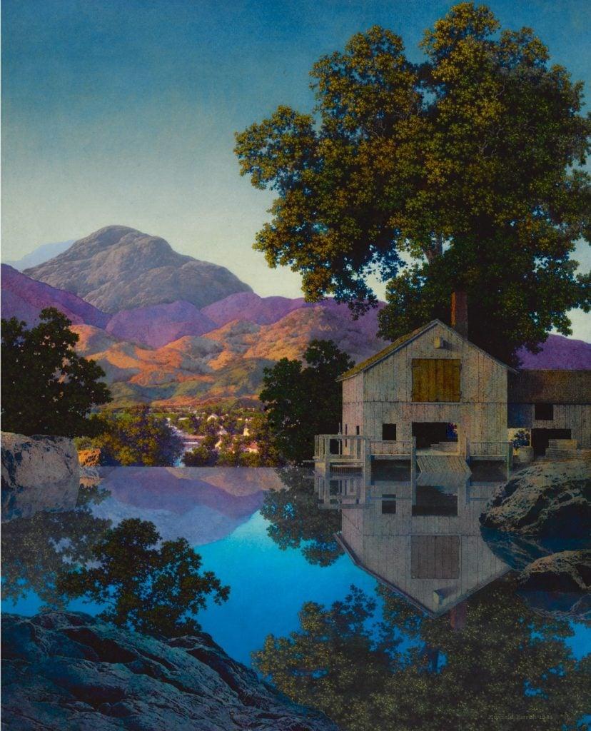 Maxfield Parrish, Mill Pond, ca. 1945