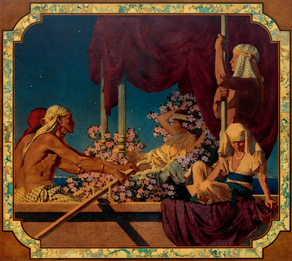 Maxfield Parrish, Cleopatra, ca. 1917, private collection.