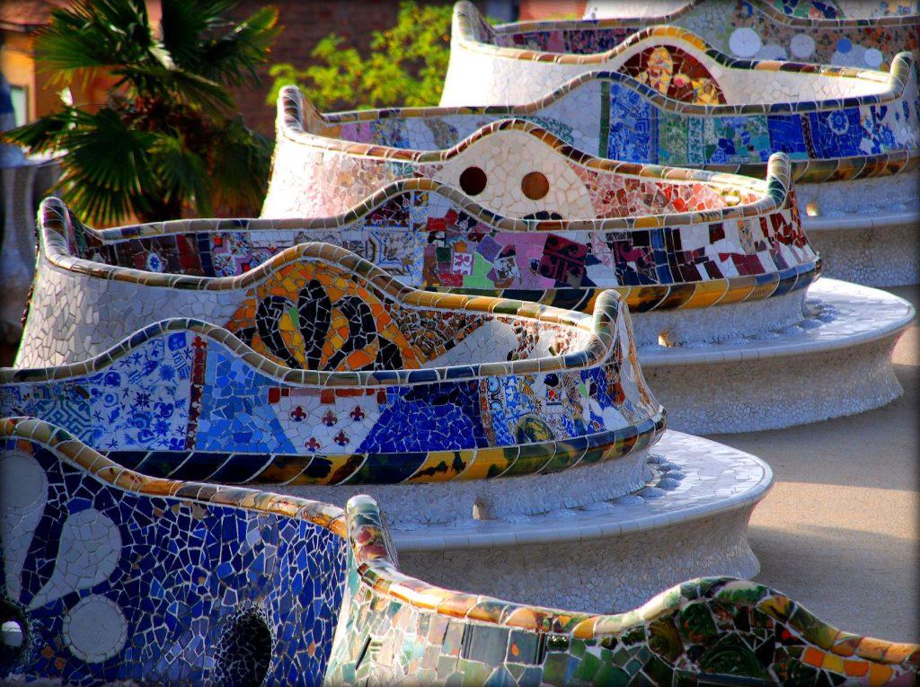 Antonio Gaudí, Park Güell, Barcelona, Spain.