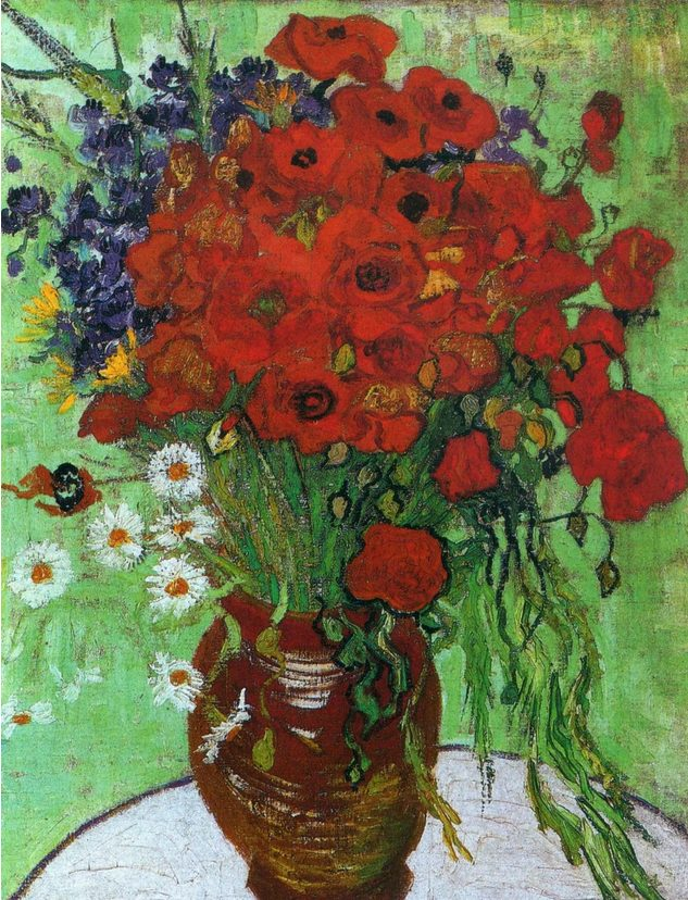 Vincent Van Gogh, Poppies and Chamomile, 1890, oil on canvas, Arthive.