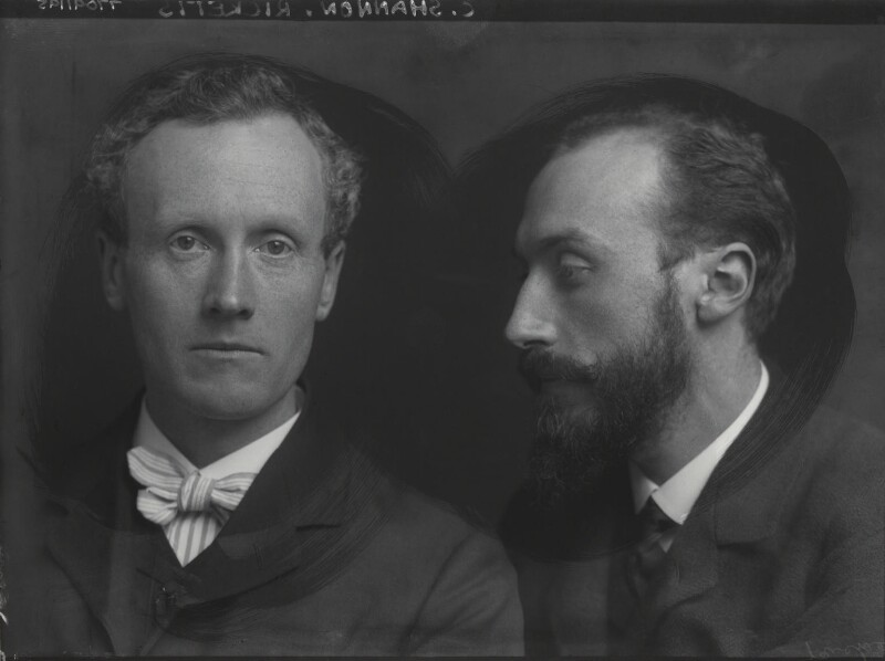 Famous artist couples: George Charles Beresford, Portrait of Charles Haslewood Shannon and Charles de Sousy Ricketts, 1903, National Portrait Gallery, London, England, UK.