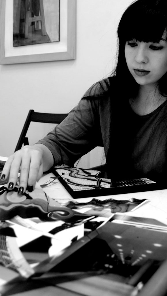 Elena Antonopoulou working on one of her projects. Courtesy of the artist.