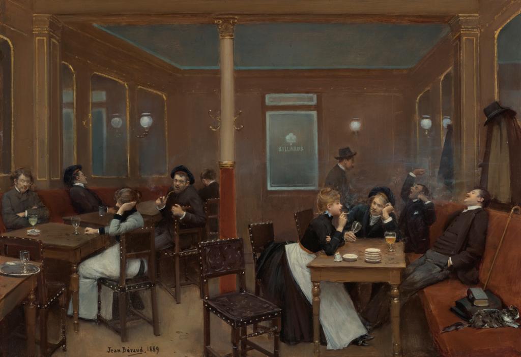 Jean Béraud, Brasserie d' étudiants, 1889, oil on canvas, private collection. Sotheby's.