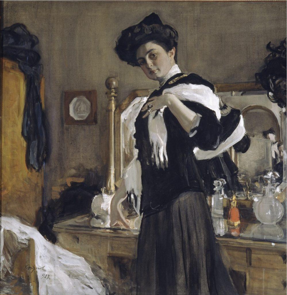 Valentin Serov, Portrait of Henriette Girshman, 1907, Tretyakov Gallery, Moscow, Russia.