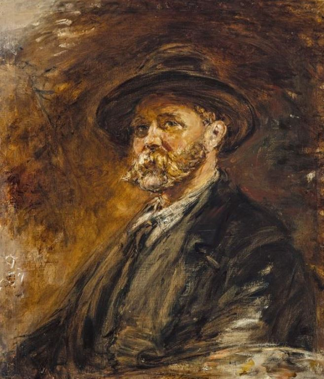 Landscape paintings Constable McTaggart: William McTaggart, A Study of Oak Leaves in Autumn (Self-portrait),