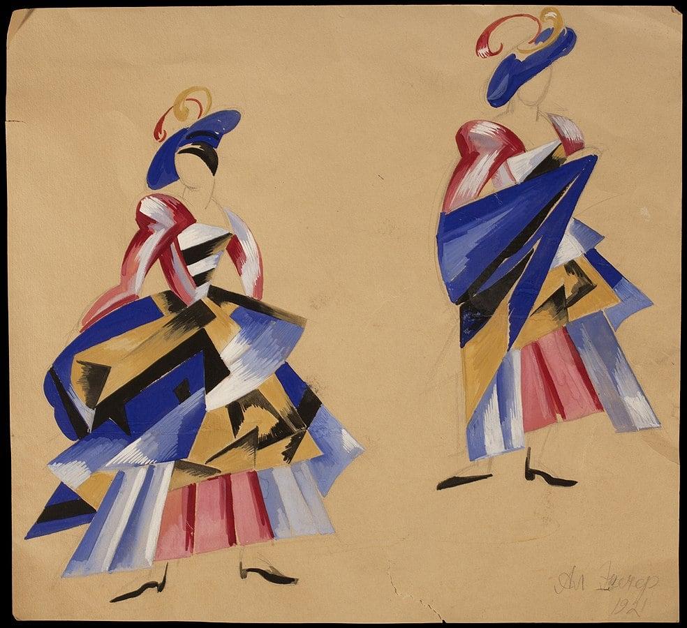 Alexandra Exter, Costume design for Romeo and Juliet, 1921, M. T. Abraham Center, Geneva, Switzerland.