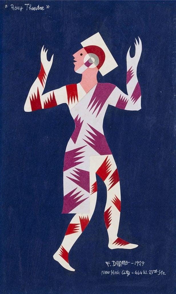 Futurist fashion: Fortunato Depero, A sketch for the Roxy Theatre, 1929.
