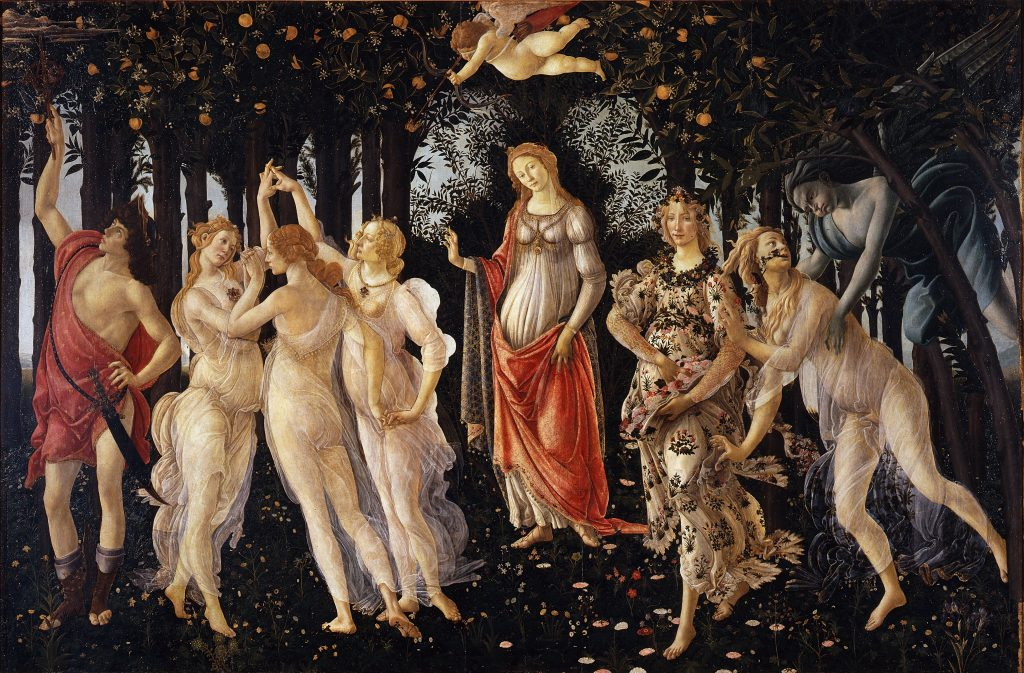 Sandro Botticelli, La Primavera, late 1470s-early 1480s, Uffizi, Florence, Italy