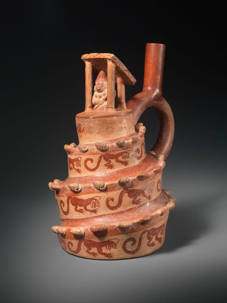 Moche Culture: Architectural Vessel, 4th-6th century, ceramic, Moche, Peru. Metropolitan Museum of Art, New York, NY, USA.