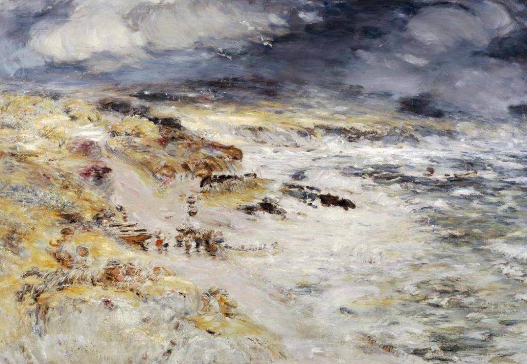 Landscape paintings Constable McTaggart: William McTaggart, The Storm, 1890, National Galleries Scotland, Edinburgh, Scotland, UK.