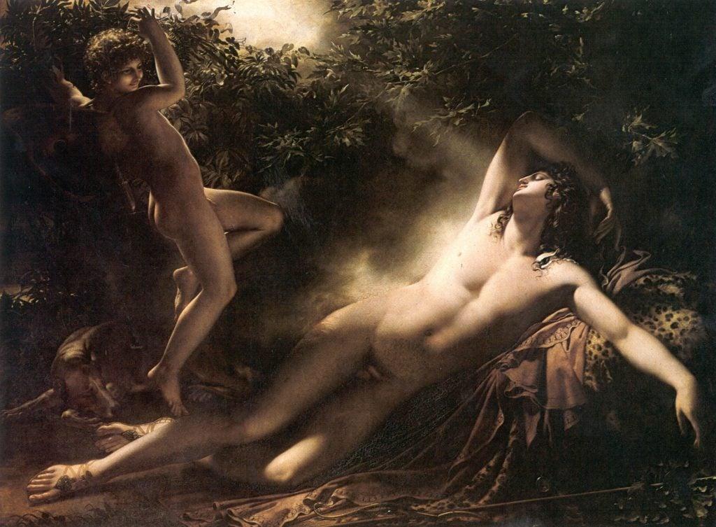 Anne-Louis Girodet de Roussy-Trioson, The Sleep of Endymion