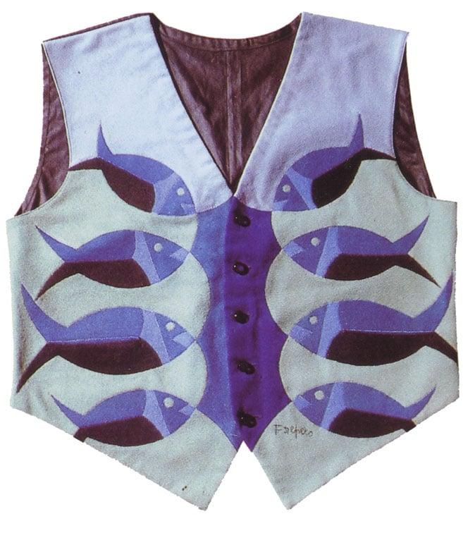 Futurist fashion: Fortunato Depero, Futuristic Fish Vest, 1923-24.