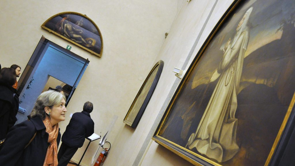 AWA Founder Jane Fortune at the San Salvi Museum, Florence, Italy. Advancing Women Artists.