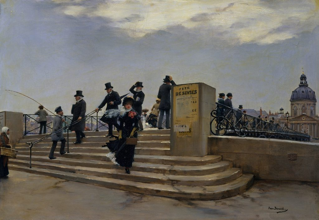 Jean Béraud, A Windy Day on the Pont des Arts, c.1880-1, oil on canvas, The Metropolitan Museum of Art, New York, USA.