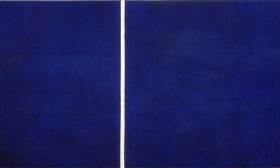Barnett Newman, Cathedra, 1951, oil and acrylic on canvas, Stedelijk Museum, Amsterdam, Netherlands.