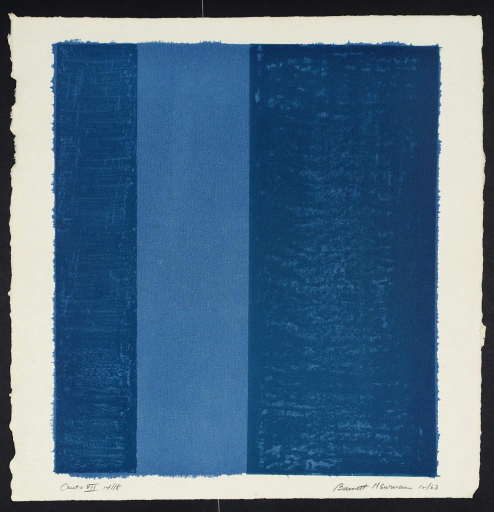 Barnett Newman, Canto VII, 1963-64, Tate, London, UK. color field painting