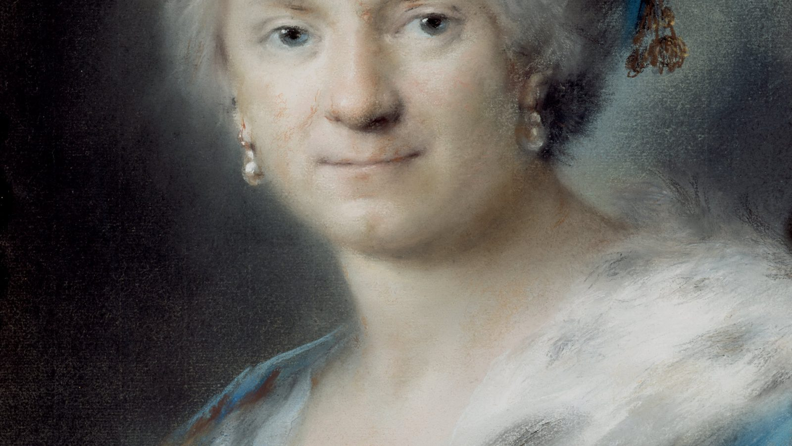 self-portrait of Rosalba Carriera with pastel