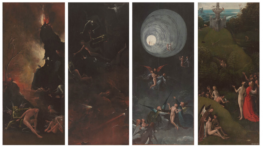 Beautiful Horrors: Art in the Chilling Adventures of Sabrina: Hieronymous Bosch, Visions of the Hereafter, ca. 1505-15, Gallerie Academia, Venice, Italy.