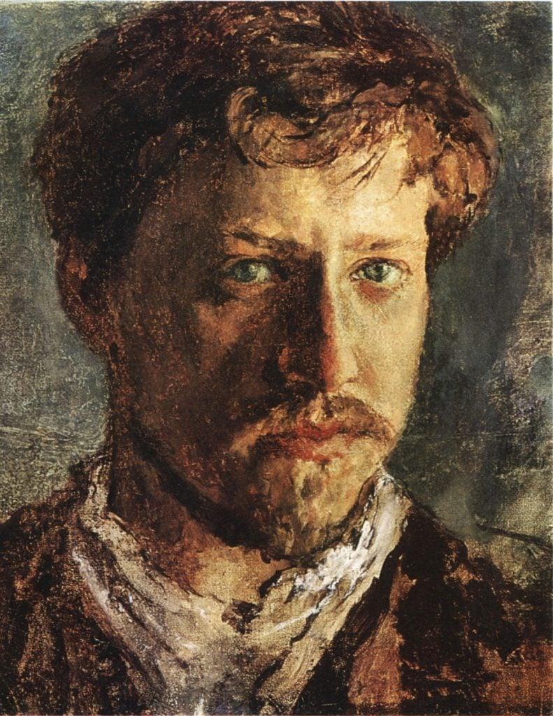 Valentin Serov, Self-portrait, 1880s, private collection