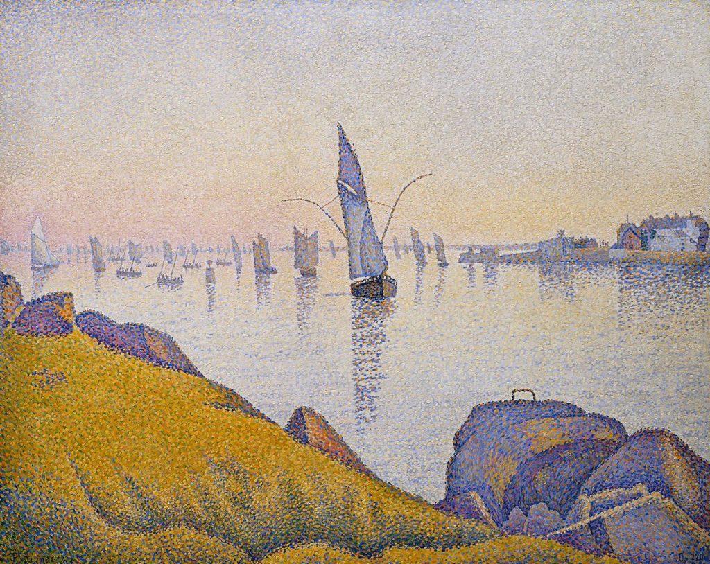 Music and art: Paul Signac, Evening Calm, Concarneau, Opus 220 (Allegro Maestoso)