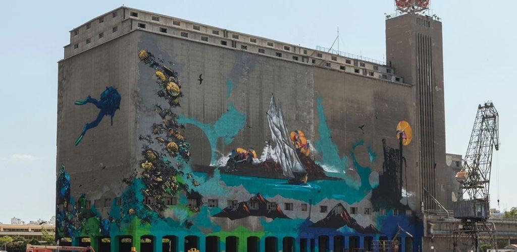 Apset & Same84 of UrbanAct, Silo, 2014, Pireus, Athens.