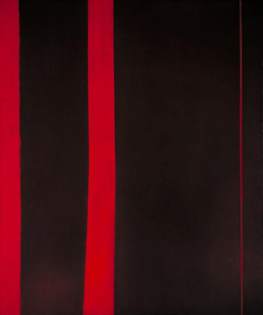Barnett Newman, Adam, 1951-52, Tate, London, UK. color field painting