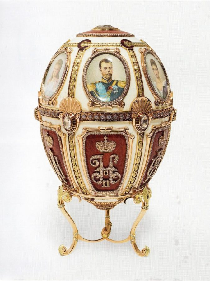 The alleged Fabergé Wedding Anniversary Egg at the center of the controversy. Courtesy Fabergé Museum, Baden-Baden