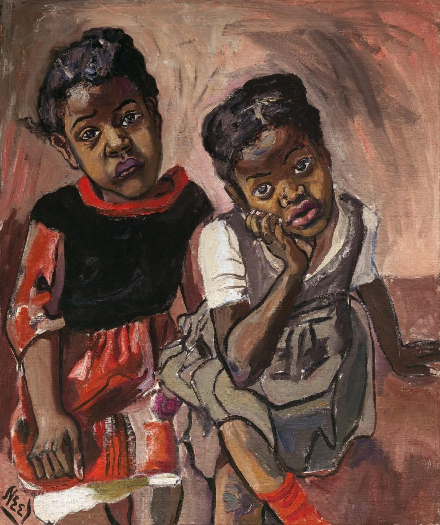 Alice Neel, Two Girls, 1959, private collection.