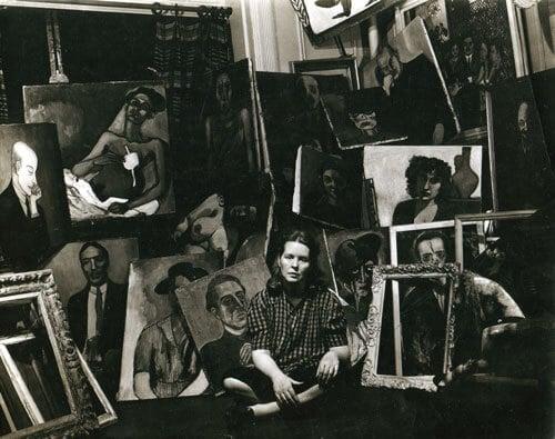 Sam Broody, Alice Neel photographed in her studio