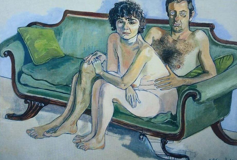 Alice Neel, Cindy Nemser and Chuck, 1975, private collection